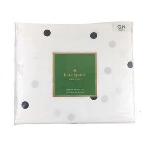 Kate Spade Black Polka Dot Queen Sheet Set